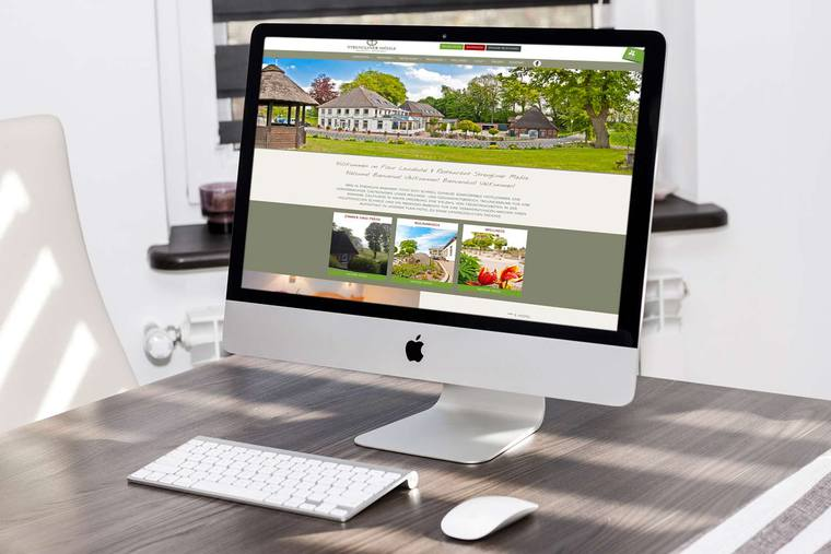 mobiles Webdesign für Hotel & Restaurant Strengliner Mühle