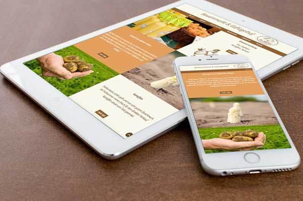 webdesign für Bauernmarkt Albert