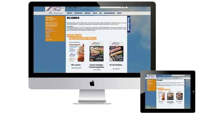 webdesign für Bäckerei Brede