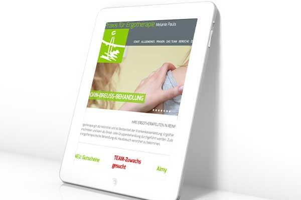 Webdesign für Ergotherapie Reinfeld Lübeck