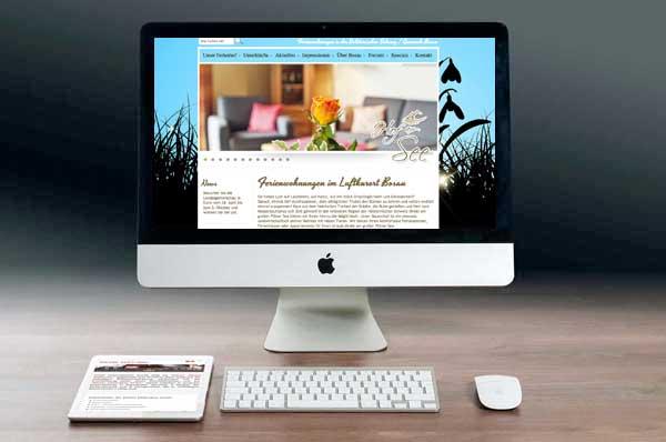 Webdesign für Ferienvermietung Bosau
