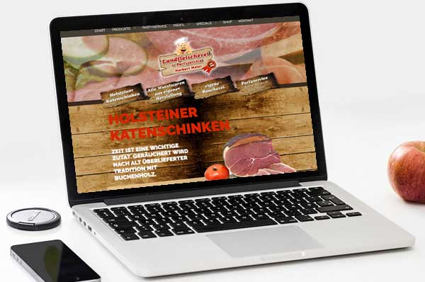 Webdesign für Fleischerei Meier