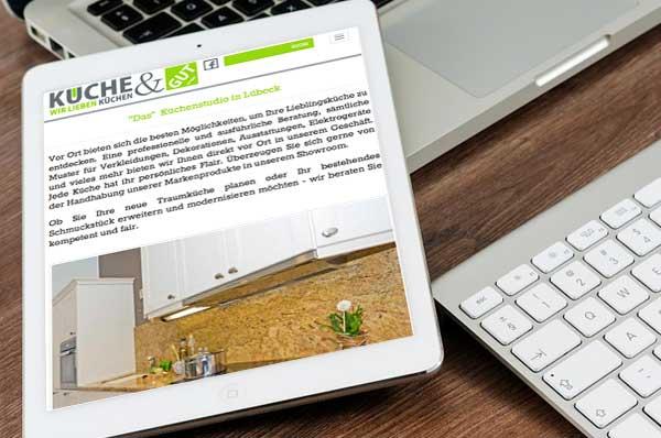webdesign für Küche & Gut Lübeck