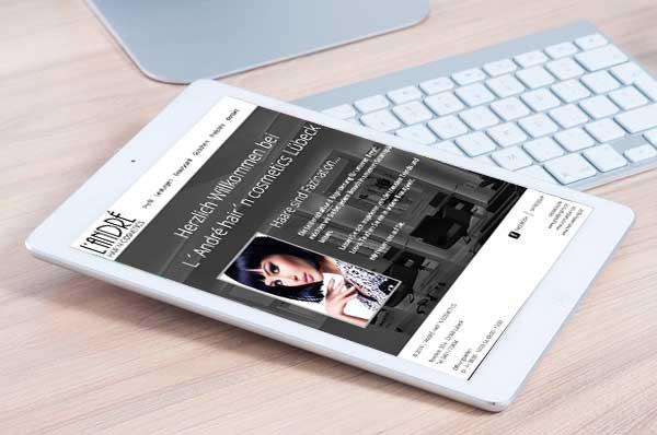 Webdesign für Landre Hair Lübeck