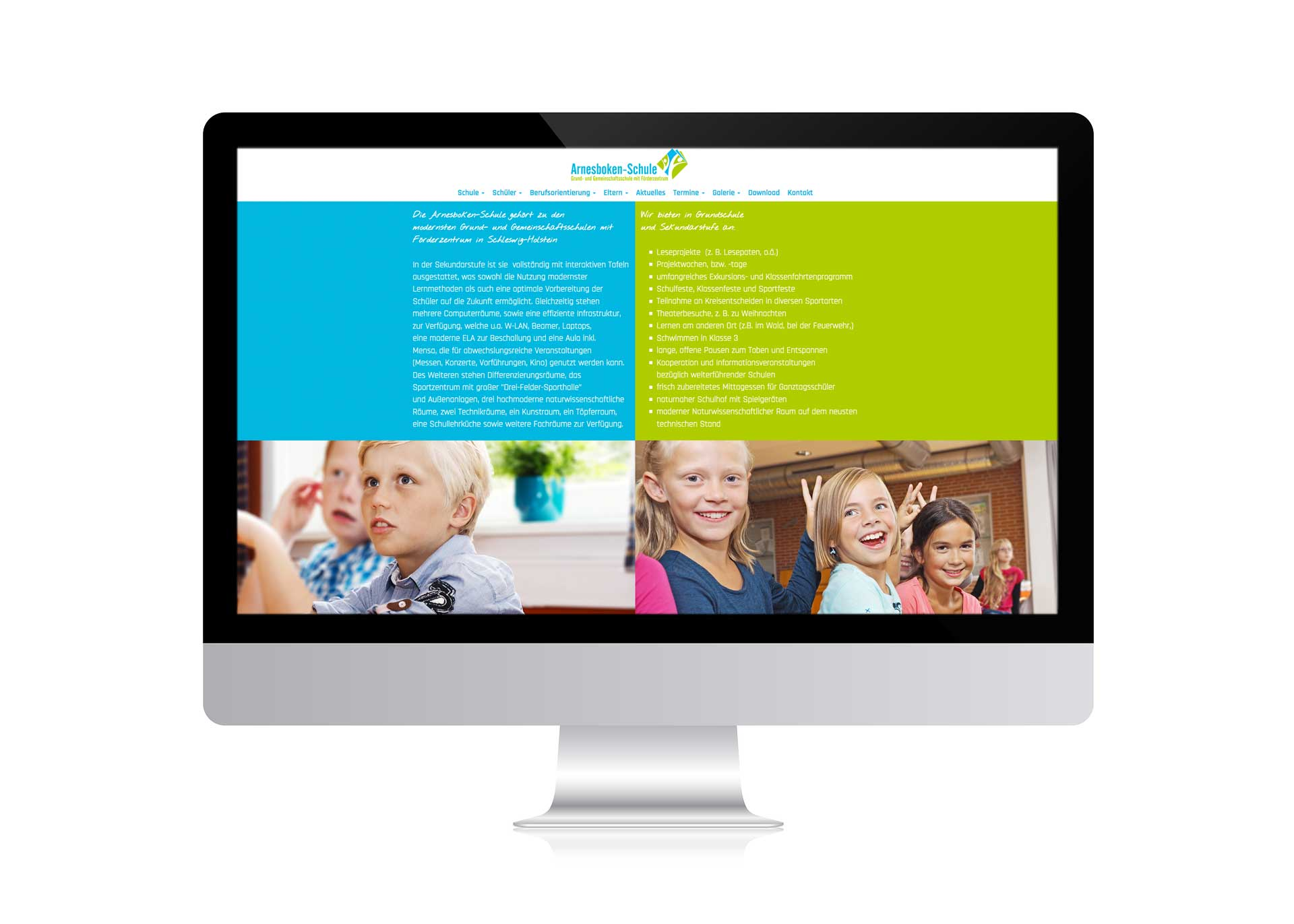 webdesign für die Arnesboken Schule